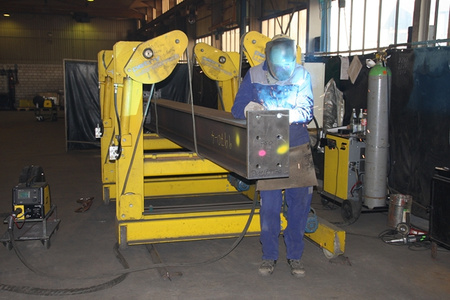 Wendomat from Petry in use during welding