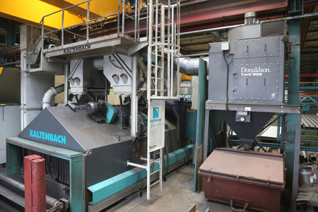 Used structural steel processing line Kaltenbach Sprint for shot blasting