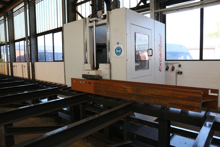 Used structural steel processing beam drilling and milling line Ficep Excalibur 1201